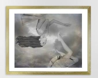 Fragmented Dreams, Retro, Surreal, Fine Art Print Wall Decor