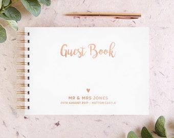 Foil Wedding Guest Book
