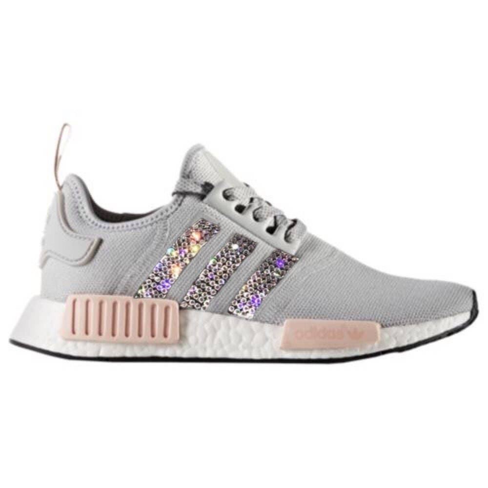 adidas nmd r1 bling schuhe mit swarovski kristallen frauen. Black Bedroom Furniture Sets. Home Design Ideas