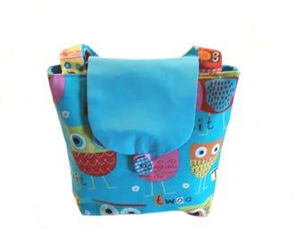 Handbag, childrens hand bag, fabric bag, cloth bag, girls girls, sewn fabric bag