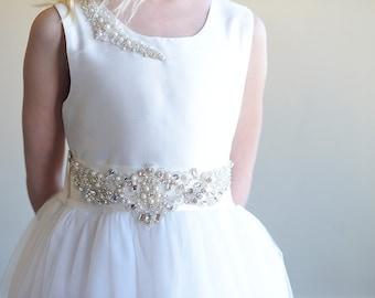The Pearl Flower girl dress, First communion dress