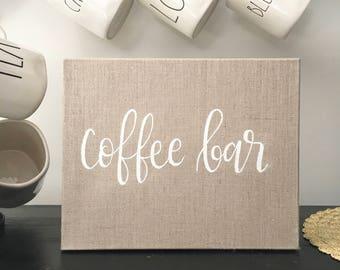 Coffee Bar - Linen Canvas