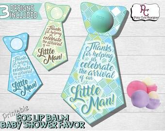 EOS Lip Balm Baby Shower Favor Printable Tag; EOS shower favor; Baby boy shower favor; Boy eos shower favor; instant download shower favor