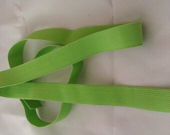 Elastic lime green - 2 cm wide