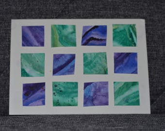 Green and Purple handmade card