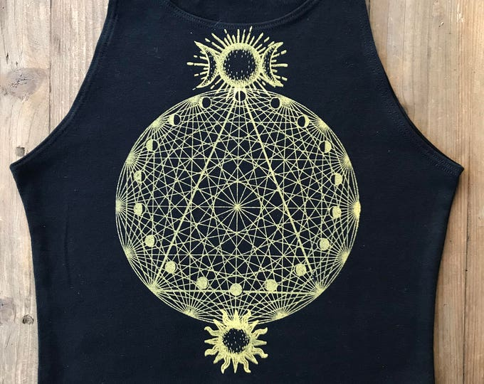 SUN & MOON Celestial Fitted Crop Tank