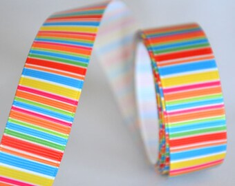 "1 meter printed Ribbon ""multicolor"" - 22 mm - not expensive!"