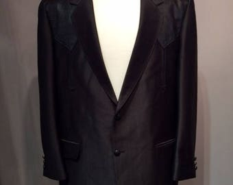 Western Black Blazer Men