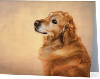 Golden Retriever - blank note card, Gifts for dog lovers, Gifts for dog people, Cards for dog people, Dog cards