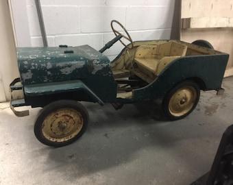 1940s Handmade Jeep Peddle Car