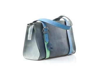 natural leather handmade bag Lili woman purse  original handbag made by ladybuq