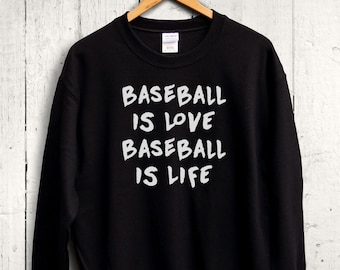 Baseball Is Love Sweater - Baseball Sweatshirt, Cute Baseball Shirt, Womens Baseball Top, Baseball Gift, Baseball Sweater