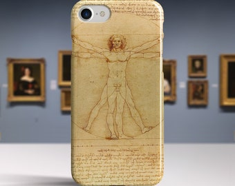 "iPhone 8 case Da Vinci ""The Vitruvian Man"" iPhone 6 Plus case iPhone X case Phone case for iPhone X 8 7 6 etc. PC-LDV-03"