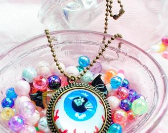 Harajuku, Creepy Cute, Pastel Goth, Dreamy Unicorn, Yume Kawaii, Yami Kawaii Eyeball Necklace