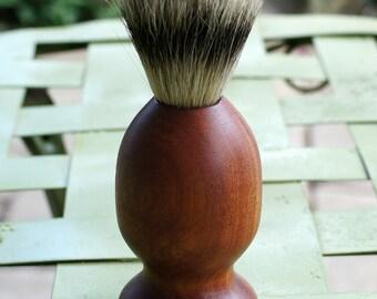 shaving brush, silvertip badger hair, sapele
