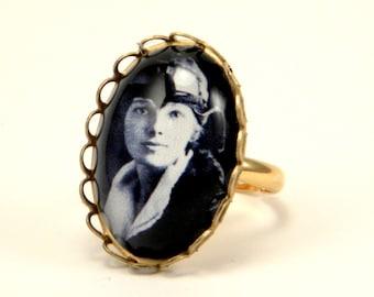 The Aviator Amelia Earhart Petite Ring