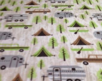 Fleece Knotted Tied Blanket - Campers Delight - Handmade -Blanket