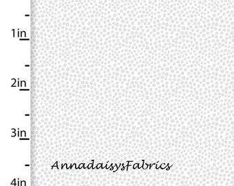 Tiny Gray Dot Fabric, Gray & White Dot Quilt Fabric, 3 Wishes Little Forest 12944 Gray, Gray Cotton Yardage
