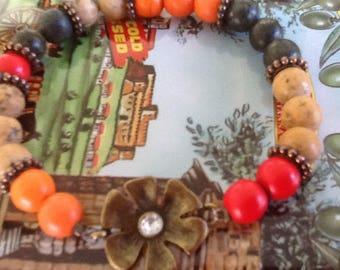 Colorful Bracelet Flower Gemstone Bracelet Women's bracelet Boho Hippie Bracelet