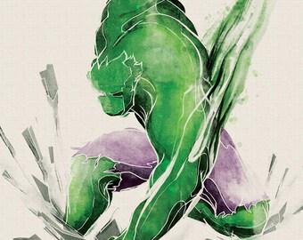 Marvel Hulk Art Print