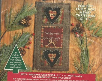"""Bucilla PatchWorks Easy Applique Projects """"Season's Greeting"""" Kit"""