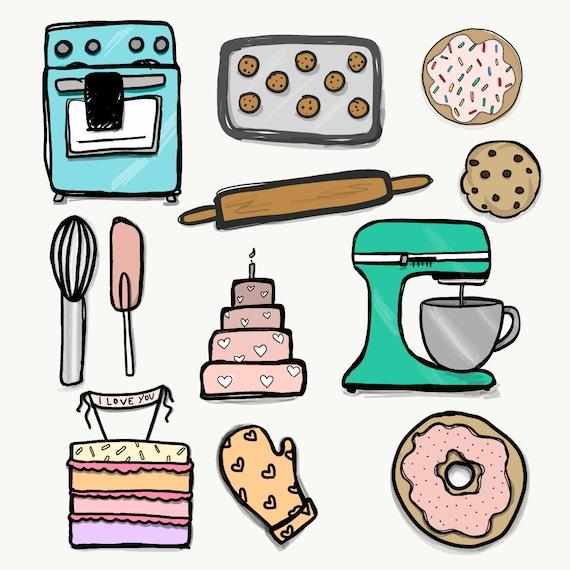 baking clipart 12 png files transparent background 300 dpi rh etsy com banking clip art images baking clip art images