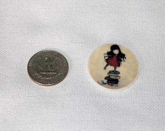 Girl with Books Magnetic Needle Minder Keeper Nanny Rare Earth Neodymium Magnet Resin