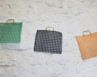 60's/70's vintage bag.  Plastic squared bag. Made in Spain. New with tags.