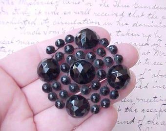 Beautiful Black Glass Victorian Bead Jewelry Finding