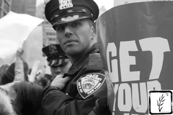 """""""Get Your NYPD,"""" New York City Women's March, 2017."""