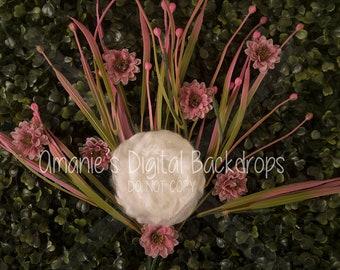 Floral Garden Digital Backdrop