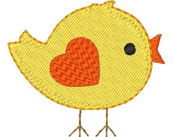 Lovebird Machine Embroidery Design, Baby Bird, Valentine Bird Embroidery Design, Cute Bird, Valentine's Day, Instant Download, No:JG00053-11