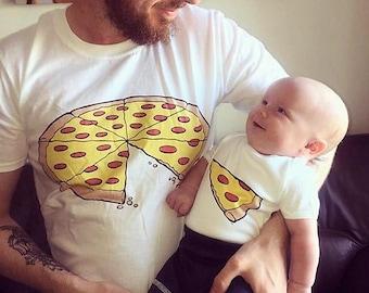 Father Son shirts Pizza Slice Matching shirts Father Daughter matching Father Son Whole Pizza 1 Slice Pizza Shirts Outfits Family outfits