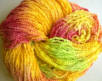 Puffin, Hand dyed cotton yarn, 8oz, 370 yds - Citrus