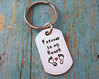 Forever in My Heart - Memorial Keychain - In Memory Of - Baby Loss - Loss of a Loved One - Memorial Gift - Infant Loss - Angel