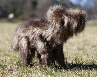 Earth Wrinkles OOAK forest beast plushie plush art