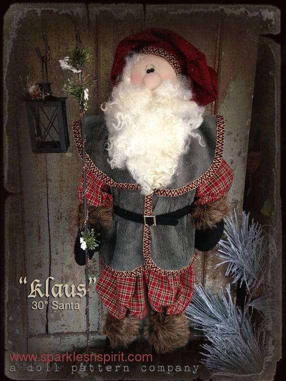 "Doll Kit: ""Klaus"" - 30"" Santa  for doll pattern by Sparkles n Spirit"