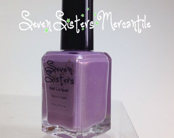 Straight On Till Morning - Seven Sisters Nail Lacquer - 15 mL 0.5 Fl Oz. - Neverland Collection - Lavender Duo-Chrome Nail Polish