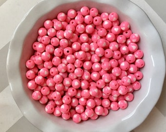 12mm Light Pink Hearts Chunky Bubble Gum Beads Set of 20