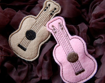 Wool Felt Guitar Clip by Chic Baby Rose