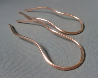 Copper hair fork, hair pin, hair jewelry, gift for her, anniversary gift