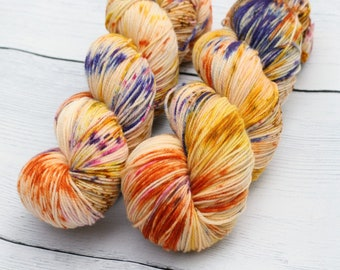 Don't Taunt the Fear Demon {Theurgic} -  90/10  Superwash Targhee - Nylon - 465 Yards - 115 Grams - Speckled Sock Yarn - 100% Product of USA