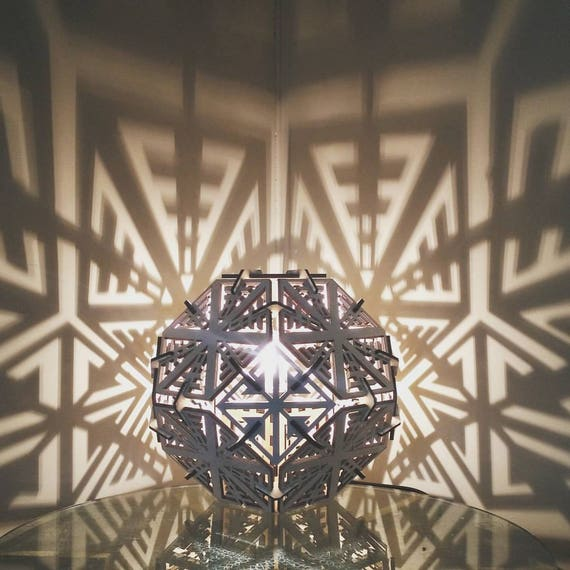 Truncated Octahedron - Shadow Lamp - Desk
