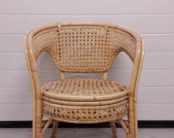 Attractive Vintage Rattan Chair Bohemian Style