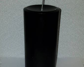 Black Pillar Candle, Gothic Candle, Halloween Candle, Wiccan Candle, Witch