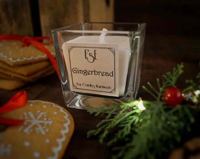 Christmas Soy Candle, Gingerbread, Spicy and cozy, Holiday Candle, Home Decor Gift, Christmas Gift, Seasonal candle, Wife, Mother in law