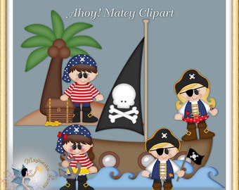 Pirate Clipart, Ahoy Matey