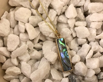Abalone Shell bar pendant