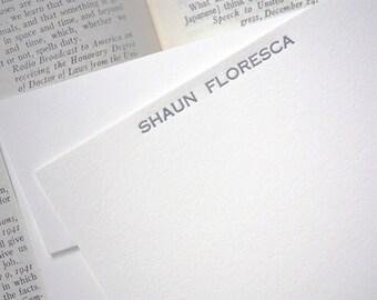 personalized letterpress stationery | shaun