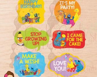 Sesame Street, Sesame Street props, Sesame Street birthday, Sesame Street party, Sesame Street photo booth, Sesame Street favors, PhotoBooth